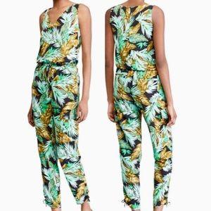 LAUREN Ralph Lauren Tropical Palm Print Jumpsuit
